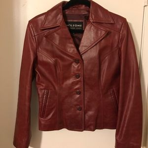 Wilson's Red Leather Jacket